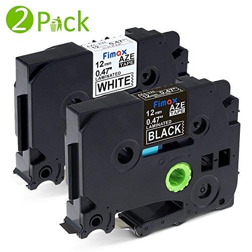 Fimax Compatibile 2x Tape TZe-231 TZe-335 Standard Laminato Nastri Etichette Compatibile per Brother P-Touch PT-H100LB PT-H110 PT-1000 PT-1005 PT-1010, 12mm x 8m