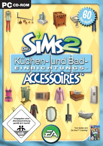 Die Sims 2 - Küchen- und Bad-Einrichtungs-Accessoires (Add-On) Romantische Bad-accessoires