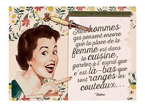 Natives 612280 Plaque Métal PM Multicolore, 15 x 20 x 2 cm