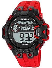 Calypso Señor Reloj de pulsera cuarzo reloj reloj de plástico con Poliuretano banda de alarma Cronógrafo digital todos los modelos k5696, variante: 03