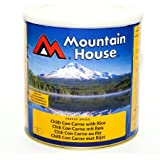 Mountain House No 10 Tin Long Life Freeze Dried Food Chilli Con Carne with Rice Serves 9