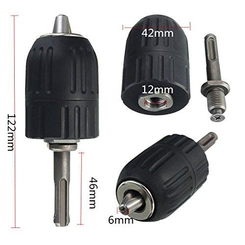 """Drillpro Schnellspannbohrfutter 2–13mm Bohrfutter Schnellspann mit 1/2"""" SDS Plus Adapter - 2"""