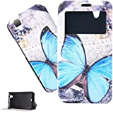Para Wiko Birdy Funda , TUTUWEN Beautiful PU Synthetic New Estilo Painted Flip Card Slot Stand Closure Protector Piel Slim Carcasa Tapa Case Cover Para Wiko Birdy 4.5""