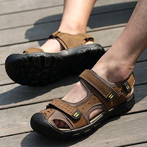 Moollyfox Sandales En PU-Cuir/Grandes Chaussures De Sport De Taille Brun Clair