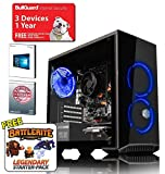ADMi GAMING PC (Intel Pentium G4560 3.5Ghz, Nvidia GTX 1050Ti 4GB Graphics Card, HDMI, 8GB 2400MHz DDR4 , 1TB HDD, 500W Bronze PSU, Coolermaster Masterbox 3.1 Blue LED Gaming Computer Case, Windows 10, Wifi)