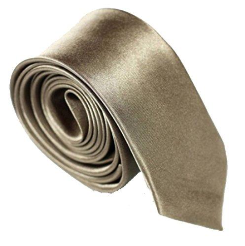 schmale dünne KRAWATTE Business Slim Tie Schlips schmal (tiramisu)