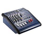 ammoon 4canaux Console Mixage DJ Digital Mic ligne audio à coktail Amplificateur avec 48V Phantom Power 16Built-in Effets Sonores pour la enregistrement DJ phase karaoké appréciation