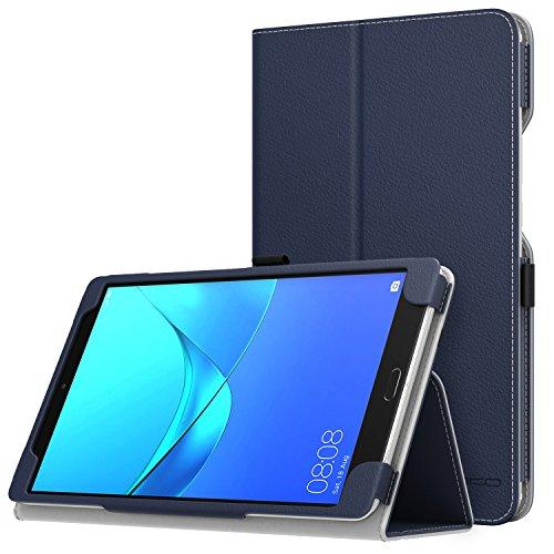 MoKo Huawei MediaPad M5 8.4 Hülle - Ultra Kompakt Premium Slim Folding Standfunktion Schutzhülle Case für Huawei MediaPad M5 8.4 Inch 2018 Tablet mit Auto Wake/Sleep Funktion, Marineblau