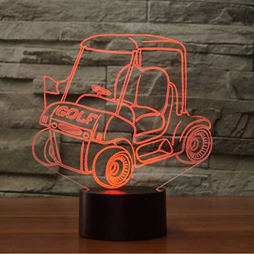 Nachtlicht Farben Golf Cart Molding Tischlampe 3D Led Visuelle Nachtlicht Nacht Atmosphäre Dekor Touch Schalter Auto Leuchte Geschenke