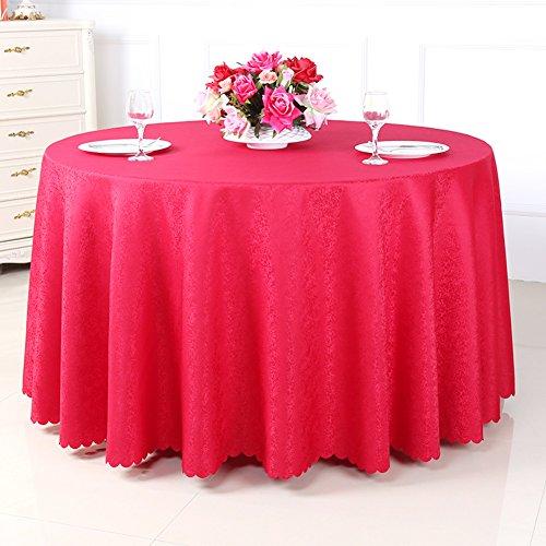 Épaissi hôtels round table nappe,Nappes de restaurant,Nappes de table de café carrée de couleur unie,Nappes en tissu réunion-F diamètre260cm(102inch)