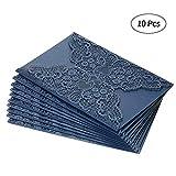 Decdeal 10 Stück Einladungskarten Schmetterling und Blume Hollow Muster Perlenpapier für Hochzeit, Geburtstagsfeier, Anniversay, Bridal Shower, Engagement
