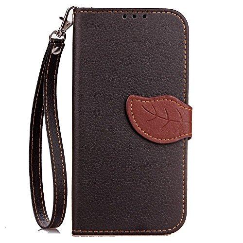Eaquro Wallet Cover iPhone 7 Plus / iPhone 8 Plus Custodia a portafoglio con Card Slot [chiusura magnetica] in pelle ultra-sottile con funzione di supporto,Cover Morbido Antipolvere Protezione per iPh Nero