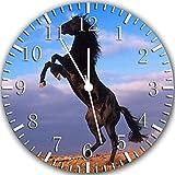 Schwarz Pferd Wanduhr 25,4cm Will Be Nice Gift und Raum Wand Decor 3200053536