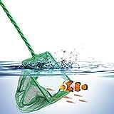 Toruiwa Aquarium Epuisette avec Manche Longue pour Poissons Filet en Nylon pour Nettoyer Pêcher