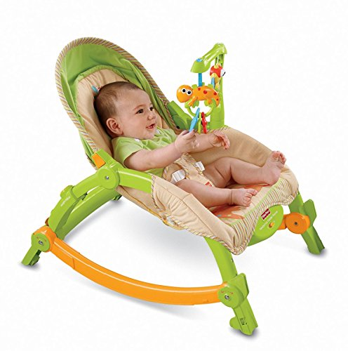 Fisher-Price Newborn-To-Toddler Portable Rocker, Lizards - Babywippe/Schaukelstuhl - aus USA