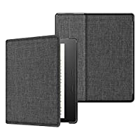 Fintie Fabric Case for All-new Kindle Oasis (10th Gen, 2019 Release & 9th Gen, 2017 Release) - Slim Fit Cover with SF Coated Non Slip Matte Finish Back Case with Auto Wake/Sleep, Denim Charcoal
