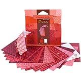 Avenue Mandarine 42682O - Origamipap 12 x 12 cm, 20 Bl, 70 g, rot