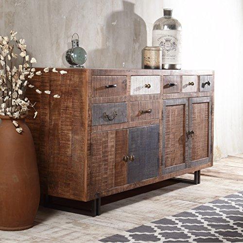 The Wood Times Sideboard Vintage Wohnzimmerschrank Massiv New Rustic Mangoholz, FSC Zertifiziert, BxHxT 160x90x40 cm - 5
