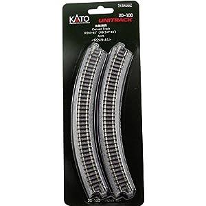 Kato 7078100 Unitrack Gleis - Pista Nacido R249 45 ° - 4 Piezas en Blister