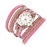 Minetom Orologio a Quarzo Classic Rotondo Rivetto da Donna Orologio da Polso ( Pink )