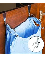 Levon Stainless Steel Trash Bag Holder for Kitchen Cabinet Shutters with Strong Built (2 Pcs)