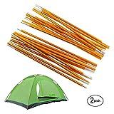 Overmont 2 x 360cm Tige de tente/ Arceau de tente / Tige de support en alliage d'alluminium pour tente de camping (2 x 11 sections x 32.5cm x Φ 8.5mm, 475g)