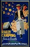 Vespa Club de Espana Rally Camping Sevilla 1958 Blechschild Schild Blech Metall Metal Tin Sign 20 x 30 cm
