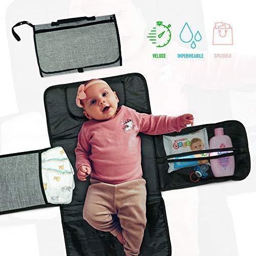 Baby Soft Fasciatoio Portatile Pieghevole, Fasciatoio Portatile, Fasciatoio Impermeabile...