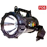 FOS Army Search Light, 55W Halogen (with Built-in, Rechargeable 7Ah SMF Battery And Touch-Operated Panel), Lighting Range Of Up To 1 Km.