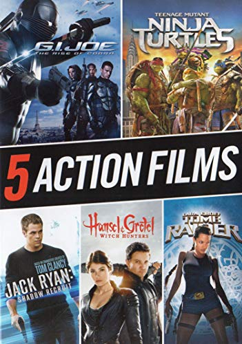 G.I.Joe: Rise of Cobra / Teenage Mutant Ninja Turtles / Jack Ryan: Shadow Recruit / Hansel & Gretel: Witch Hunters /Lara Croft: Tomb Raider (5 Action Films)