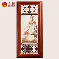 GaoHX Chinese-New cinesi in legno solido Lampada da parete Lampada da parete in stile cinese soggiorno lussuoso ristorante dell'Hotel Club (quattro bellezze della Cina antica) Lampada da parete,1