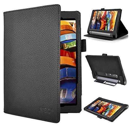 Schutzhülle für Lenovo Yoga Tab 3Pro (25cm)–IVSO slim-book schwarz Pour Lenovo YOGA Tab 3 8-Inch