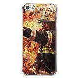 Feuerwehr Foto - Handy Hülle für iPhone 5 | 5s | SE - Schutz Cover Case Schale Feuerwehrmann
