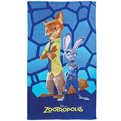 Disney Zootopia 043451 Badetuch Malice, Baumwolle Velours, 70 x 120 cm