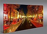 Quadro moderno Red Light District Red Light V2 Amsterdam Stampa su tela - Quadro x poltrone salotto cucina mobili ufficio casa - fotografica formato XXL Quadri
