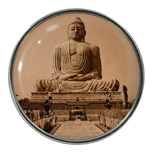 Buddha Szene Design Metall-Pin Badge