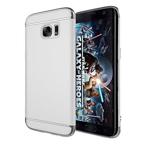 Preisvergleich Produktbild Samsung Galaxy S7 edge Hülle Schlanke Matt Case Bumper Cover Schutz Tasche Schale Hardcase Silber Samsung S7edge