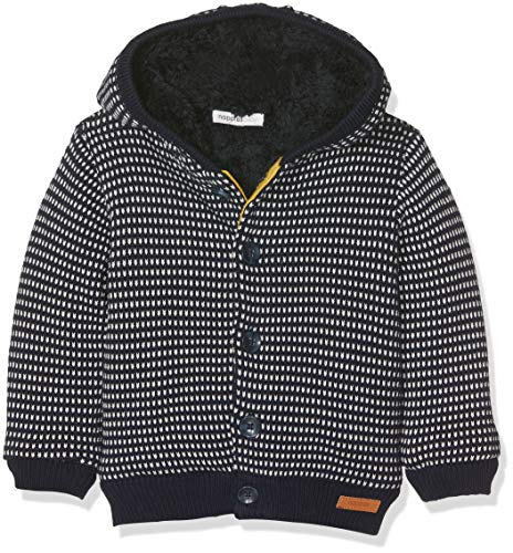 Noppies Baby-Jungen Strickjacke B Cardigan Knit ls Warwick, Blau (Dark Blue C165), 56
