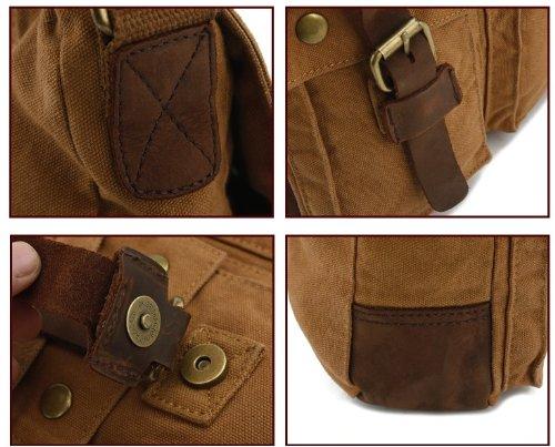 Retro Casual Herren oder damen Leinwand Schultertasche Messenger Bag Reise Tasche Retro und Nostalgie Tasche Armeegrün