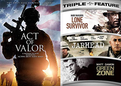 The Only Easy Day Was Yesterday... The Ultimate Modern War Collection - Act Of Valor & Lone Survivor/ Jarhead/ Green Zone (4-DVD Bundle)