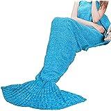 Regalos para las mujeres, manta azul de la cola de la sirena del adulto, súper suave todas las estaciones manta como regalos del día de madres, regalos de cumpleaños para las muchachas por Ultrashang