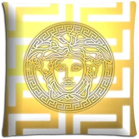 16x16inch 40x40cm livingroom pillow shell case/Fundas para almohada Cotton + Polyester friendly Silky soft versace famous top brand logo