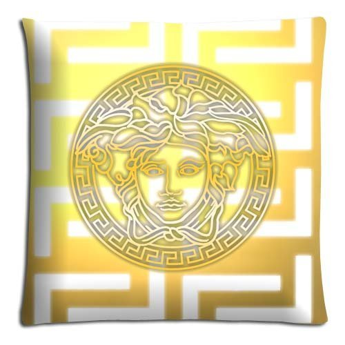 16x16inch 40x40cm livingroom pillow shell case/Copricuscini e federe Cotton + Polyester friendly Silky soft versace famous top brand logo