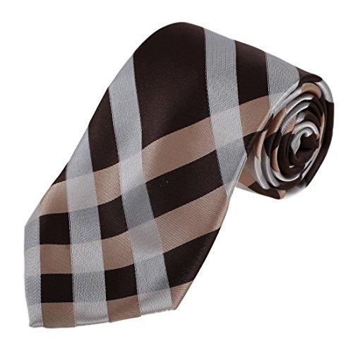 DAA7C09-10 Karierte Krawatte Woven Microfiber Krawatten Für Abschluss Von Dan Smith DAA7C10B-Braun