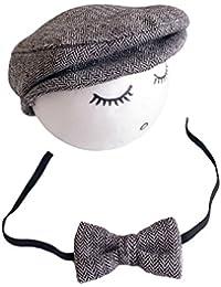 Casquette Cravate pour Bébé Garcon Fille Baseball Bonnet Beret Chapeau ensemble Photo Bébé Accessories Prop Photographie