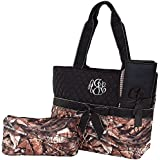 Personalized Diaper Bag Monogram Infants Quilted Camo Diaper Bag With Black Trim 3 Piece Set Diaper Bag
