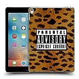 Head Case Designs Offizielle Parental Advisory Leopard Punk Rock Ruckseite Hülle für iPad Pro 10.5 (2017)