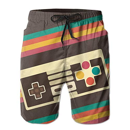 KLYDH Video Game Printed Men's Beach Shorts Board Swim Trunks