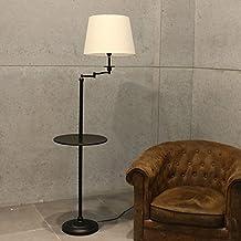 lámpara de pie moderna de América para sala de estar dormitorio del estudio vertical con bandeja incorporada