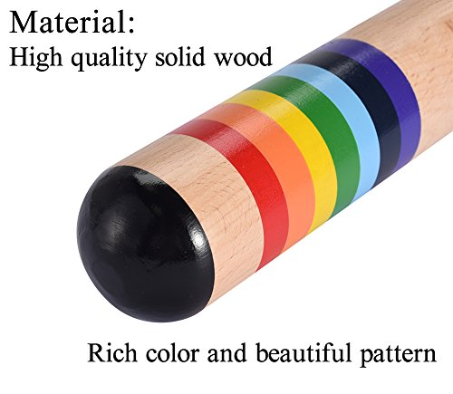 Colorful Wooden Rainstick Rainmaker Musical Instrument Toy Introduce the World of Music and Rhythm for the Kids
